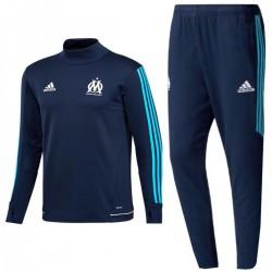 Survetement Tech d'entrainement Olympique Marseille 2017/18 navy - Adidas