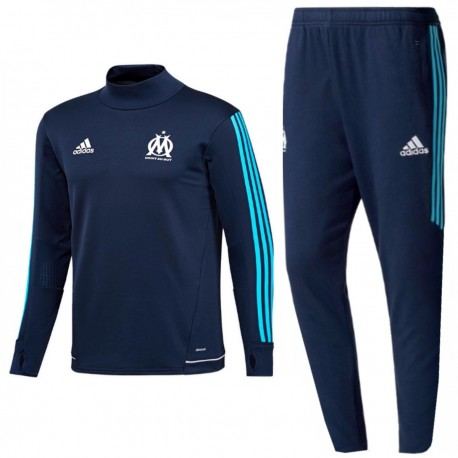 Olympique Marseille technical training tracksuit 2017/18 navy - Adidas