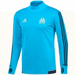 Olympique Marseille Technical Trainingssweat 2017/18 light blue - Adidas