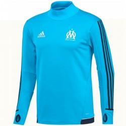 Tech sweat top d'entrainement Olympique Marseille 2017/18 light blue - Adidas