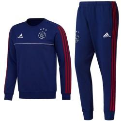 Survetement sweat d'entrainement Ajax 2017/18 navy - Adidas