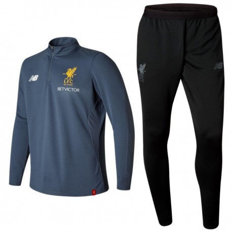 Liverpool FC technical training tracksuit 2017/18 grey/black - New Balance