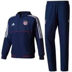 Survetement de presentation Bayern Munich 2017/18 bleu - Adidas