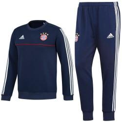 Survetement sweat d'entrainement Bayern Munich 2017/18 bleu - Adidas