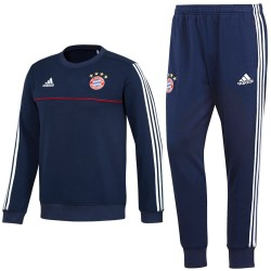Tuta sweat da allenamento Bayern Monaco 2017/18 blu - Adidas
