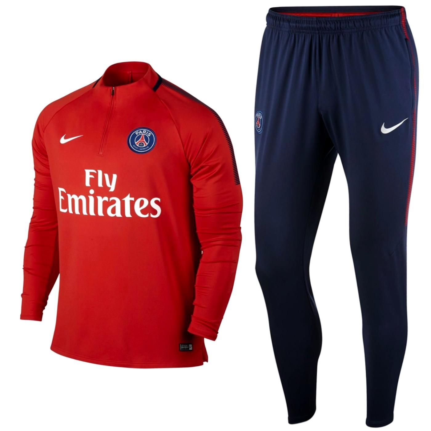 Tuta tecnica allenamento PSG Paris Saint Germain 2017/18 - Nike ...