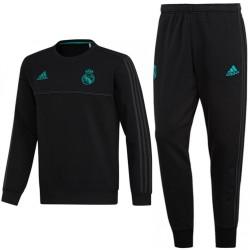 Survetement sweat d'entrainement Real Madrid 2017/18 noir - Adidas