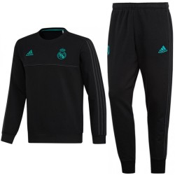 Tuta sweat da allenamento nera Real Madrid 2017/18 - Adidas