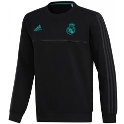 Felpa da allenamento nera Real Madrid 2017/18 - Adidas
