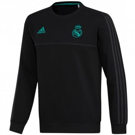 Real Madrid black training sweat top 2017/18 - Adidas