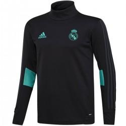 Tech sweat top d'entrainement Real Madrid 2017/18 noir - Adidas