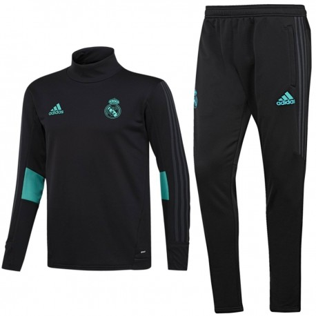 Real Madrid black training technical tracksuit 2017/18 - Adidas