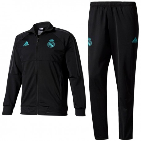 Real Madrid black training tracksuit 2017/18 - Adidas