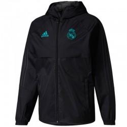 Coupe pluie d'entrainement Real Madrid 2017/18 noir - Adidas