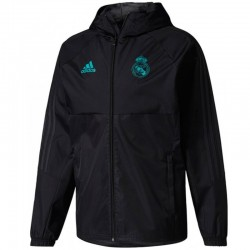 Real Madrid black training rain jacket 2017/18 - Adidas