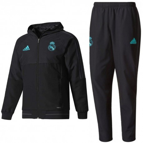 Real Madrid black presentation tracksuit 2017/18 - Adidas