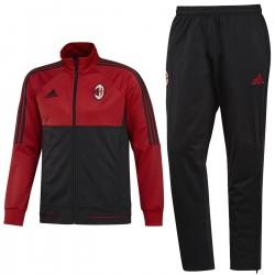 Survetement d'entrainement AC Milan 2017/18 rouge/noir - Adidas