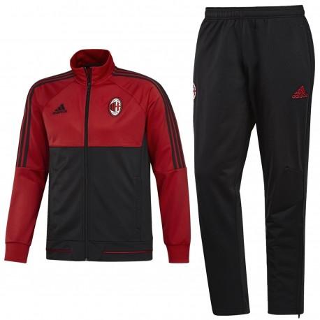 AC Milan red/black training tracksuit 2017/18 - Adidas