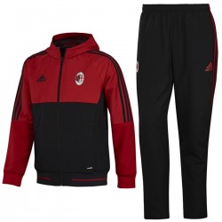 Survetement de presentation AC Milan 2017/18 rouge/noir - Adidas
