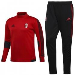 Survetement Tech d'entrainement AC Milan 2017/18 rouge/noir - Adidas