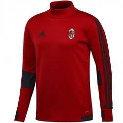 Tech sweat top d'entrainement AC Milan 2017/18 rouge/noir - Adidas
