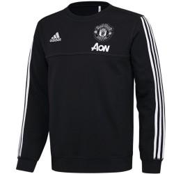 Felpa da allenamento nera Manchester United 2017/18 - Adidas