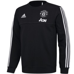 Manchester United black training sweat top 2017/18 - Adidas