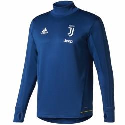 Felpa tecnica da allenamento blu Juventus 2017/18 - Adidas