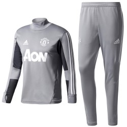 Manchester United grey training tech tracksuit 2017/18 - Adidas