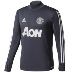 Tech sweat top d'entrainement Manchester United 2017/18 gris foncé - Adidas