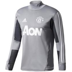 Felpa tecnica allenamento Manchester United 2017/18 grigio - Adidas