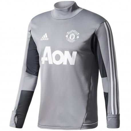 073eff13f Manchester United grey training tech sweatshirt 2017 18 - Adidas ...