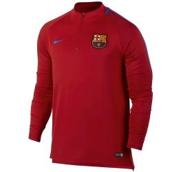 Felpa tecnica allenamento rossa FC Barcellona 2017/18 - Nike