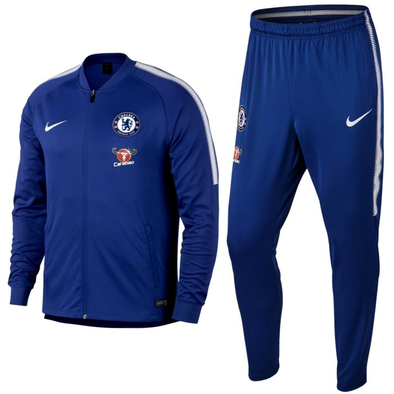 75156dd828a77 Survetement de presentation Chelsea FC 2017 18 bleu - Nike ...