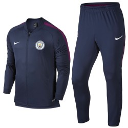 Survetement de presentation Manchester City 2017/18 bleu - Nike
