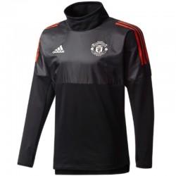 Tech sweat top d'entrainement Manchester United Eu 2017/18 noir - Adidas