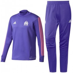 Survetement Tech d'entrainement Olympique Marseille Eu 2017/18 violette - Adidas