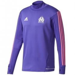 Tech sweat top d'entrainement Olympique Marseille Eu 2017/18 violette - Adidas