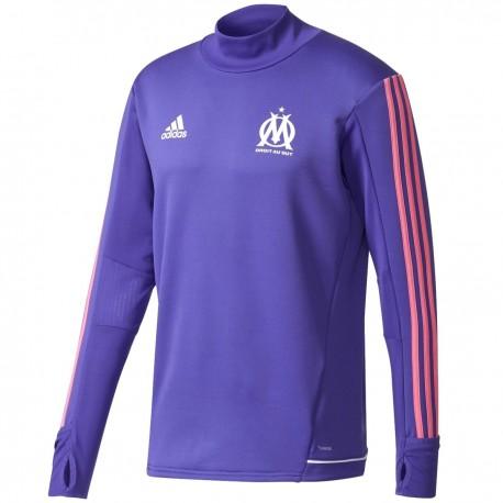 Olympique Marseille violet Eu training tech sweatshirt 2017/18 - Adidas