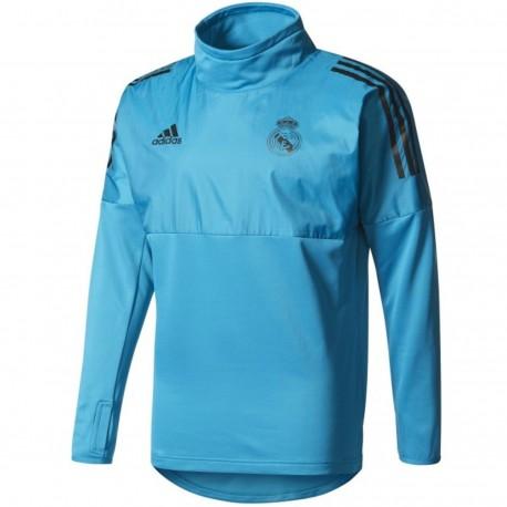 Real Madrid light blue UCL training tech sweatshirt 2017/18 - Adidas