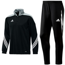 Adidas Teamwear Sereno 14 technical training tracksuit - black/grey