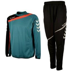 Hummel Teamwear Tech-2 tuta tecnica allenamento - water lake/nero