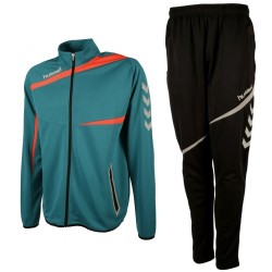 Hummel Teamwear Tech-2 tuta da allenamento - water lake/nero