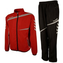Hummel Teamwear Tech-2 presentation tracksuit - red/black
