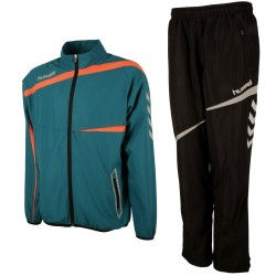 Hummel Teamwear Tech-2 presentation tracksuit - water lake/black