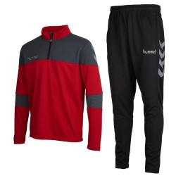 Hummel Teamwear Sirius technical training tracksuit - red/black