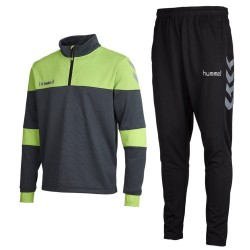 Hummel Teamwear Sirius technical training tracksuit - grey/black