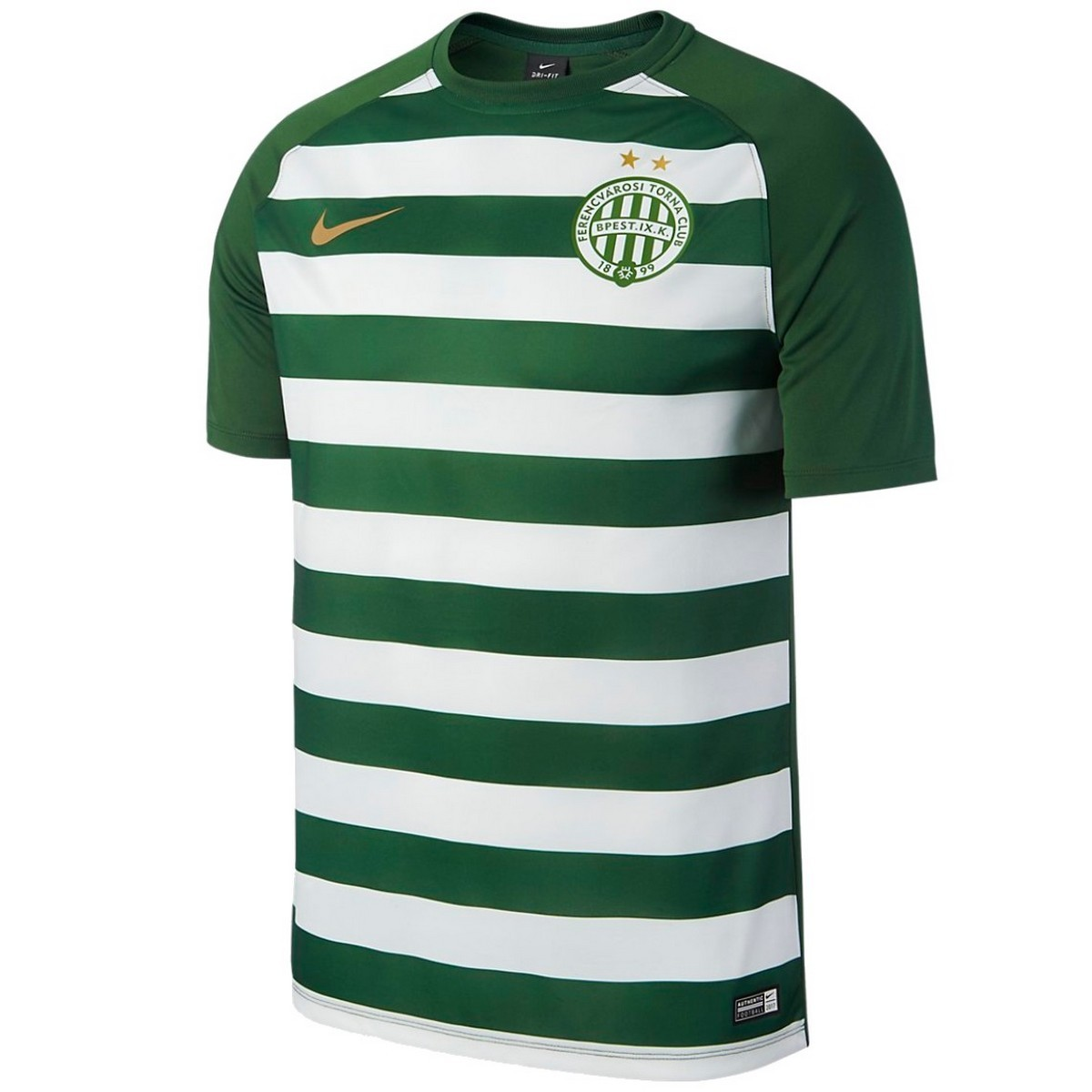polilla En honor Bien educado  Ferencváros (Hungary) Home football shirt 2017/18 - Nike