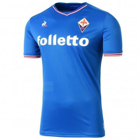 AC Fiorentina blue Away football shirt 2017/18 - Le Coq Sportif