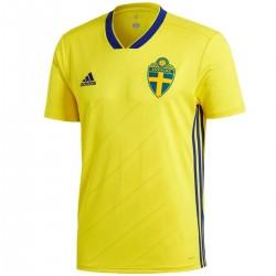 Sweden football team Home shirt 2018/19 - Adidas